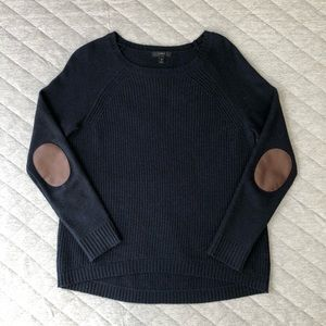 J. Crew Crewneck Sweater with Elbow Patches